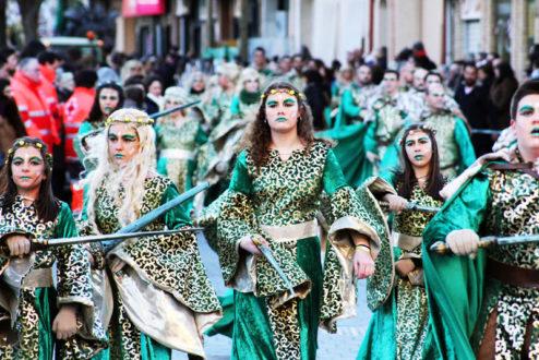Un millar de rodenses participarán en el desfile inaugural del Carnaval 2019