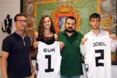 Reconocimiento a la proyección deportiva de Eva Casas y Joel Calero