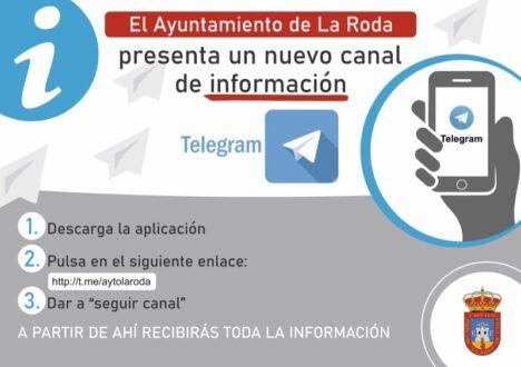 El Ayuntamiento de La Roda activa un canal de información municipal en Telegram