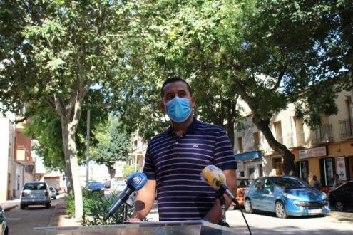 El concejal de Medioambiente informa del estado de los árboles de la Calle Castelar