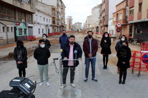 Las obras de la Calle Castelar no se paralizan